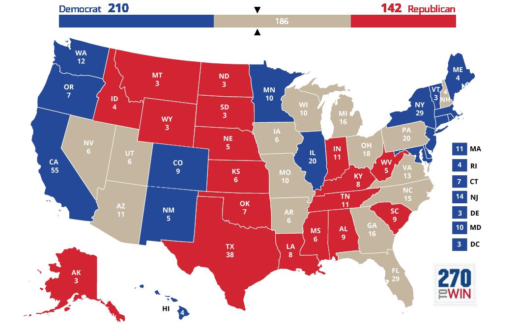 Images 5 Optimistic Electoral Maps for Clinton 3 2016