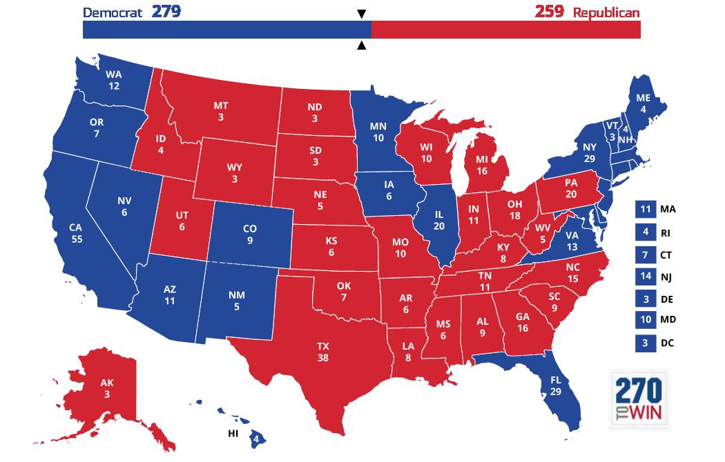 Images 5 Optimistic Electoral Maps for Clinton 4 2016 election