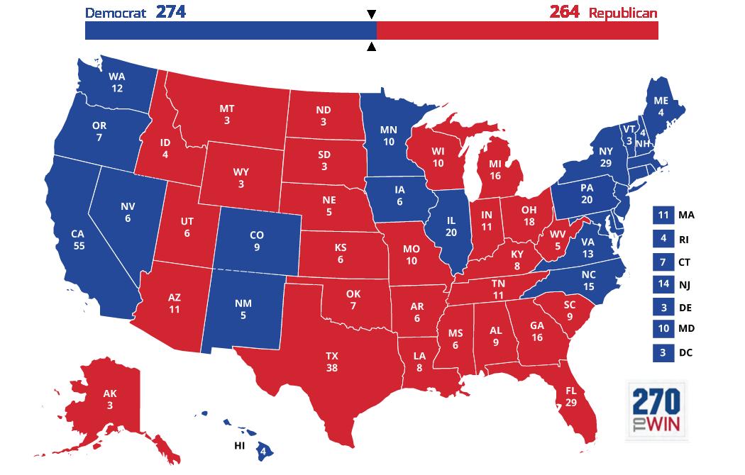 Images 5 Optimistic Electoral Maps for Clinton 5 Electoral Votes