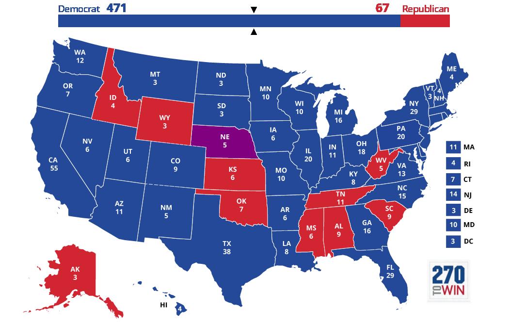 Images 5 Optimistic Electoral Maps for Clinton 8 democratic